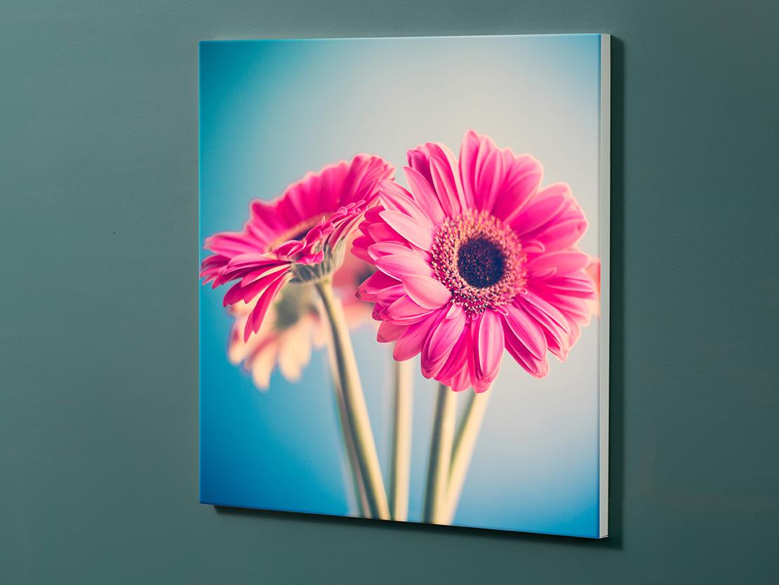 Magnettafel NOTIZ 60x60cm Motiv-Pinnwand M122 Blumen