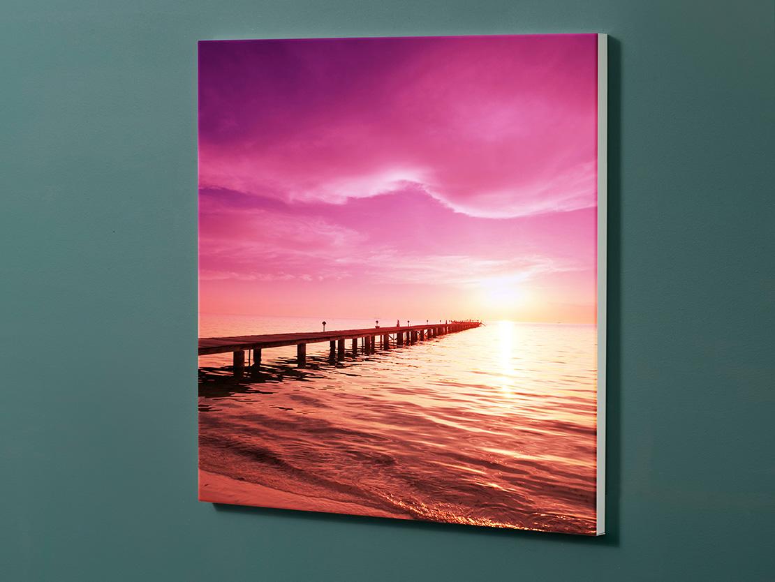 Magnettafel NOTIZ 60x60cm Motiv-Pinnwand M125 Sonnenuntergang