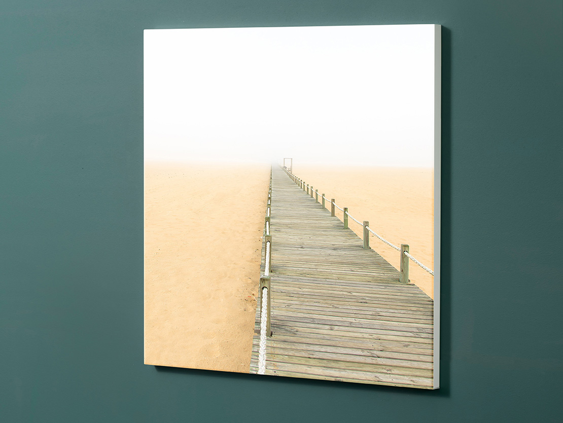 Magnettafel NOTIZ 60x60cm Motiv-Pinnwand M129 Steg Sand