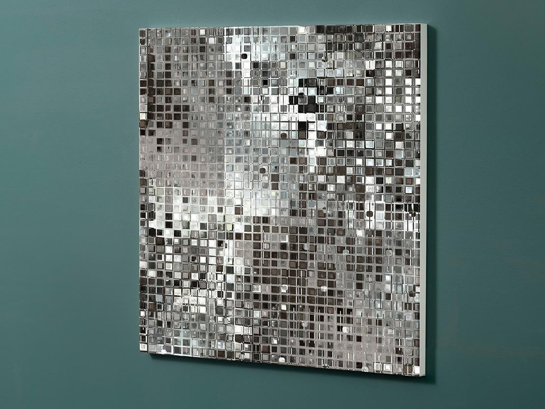 Magnettafel NOTIZ 60x60cm Motiv-Pinnwand M12 Diskokugel