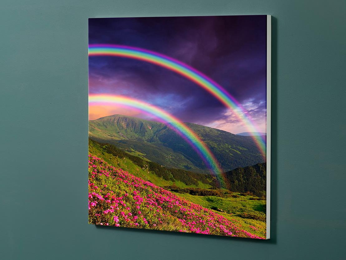 Magnettafel NOTIZ 60x60cm Motiv-Pinnwand M132 Regenbogen