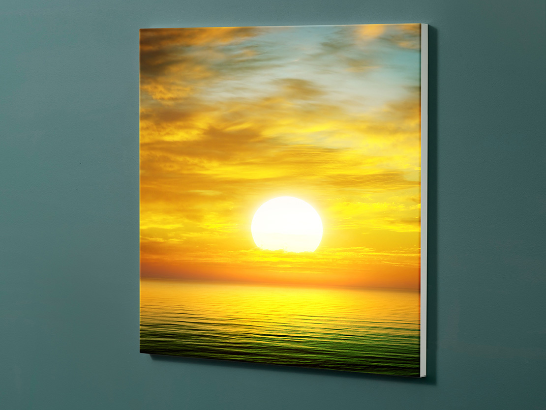 Magnettafel NOTIZ 60x60cm Motiv-Pinnwand M133 Sonnenuntergang