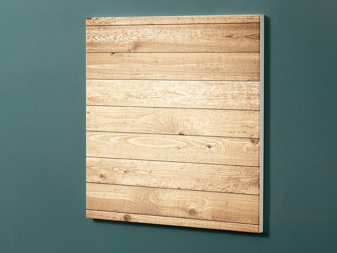 Magnettafel NOTIZ 60x60cm Motiv-Pinnwand M135 Holz