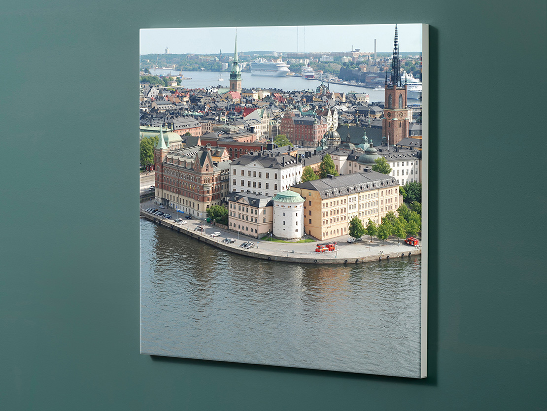 Magnettafel NOTIZ 60x60cm Motiv-Pinnwand M138 Stockholm