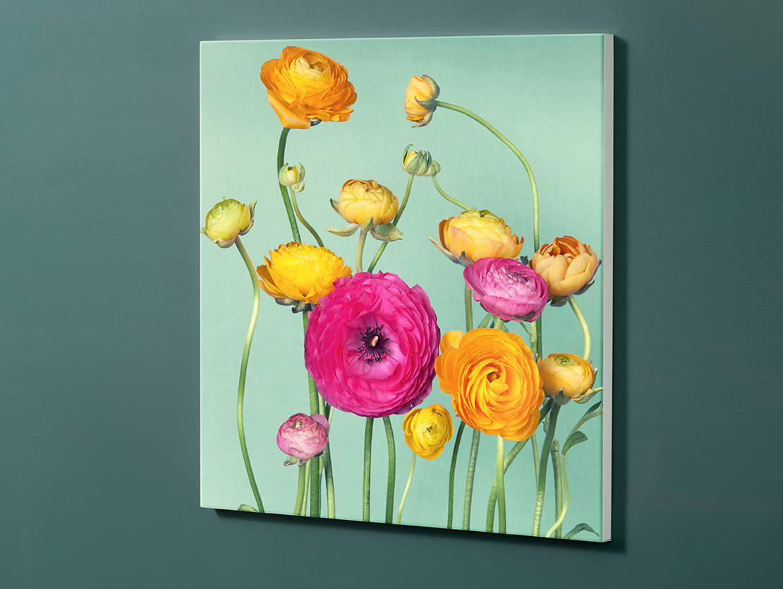 Magnettafel NOTIZ 60x60cm Motiv-Pinnwand M141 Blumen