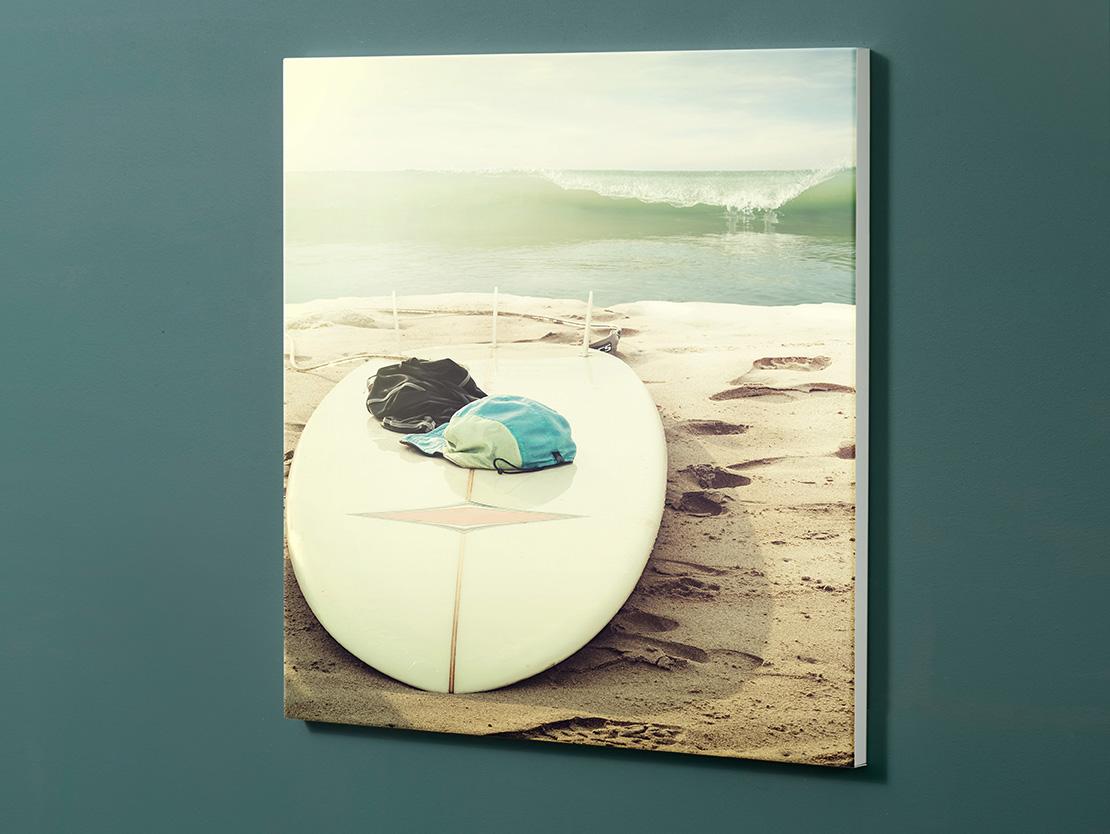 Magnettafel NOTIZ 60x60cm Motiv-Pinnwand M145 Surfboard