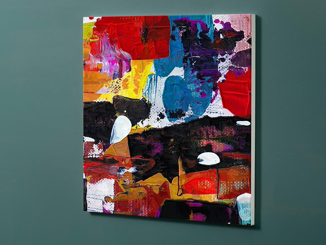 Magnettafel NOTIZ 60x60cm Motiv-Pinnwand M150 Abstrakt Kunst