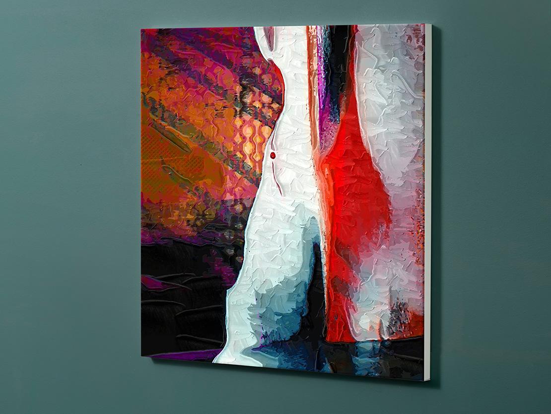 Magnettafel NOTIZ 60x60cm Motiv-Pinnwand M151 Abstrakt Kunst