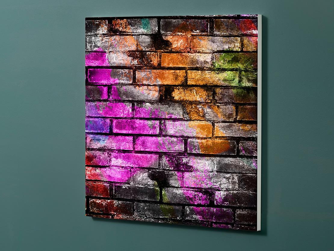 Magnettafel NOTIZ 60x60cm Motiv-Pinnwand M154 Graffiti