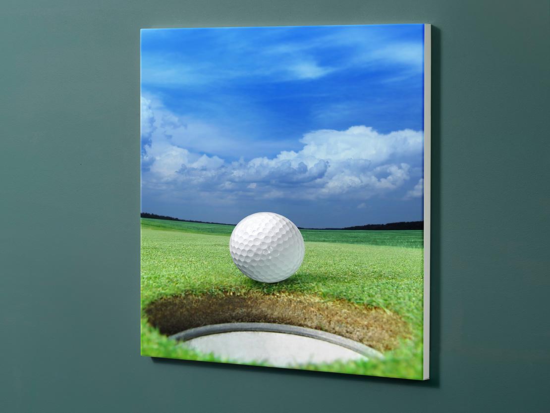 Magnettafel NOTIZ 60x60cm Motiv-Pinnwand M15 Golf