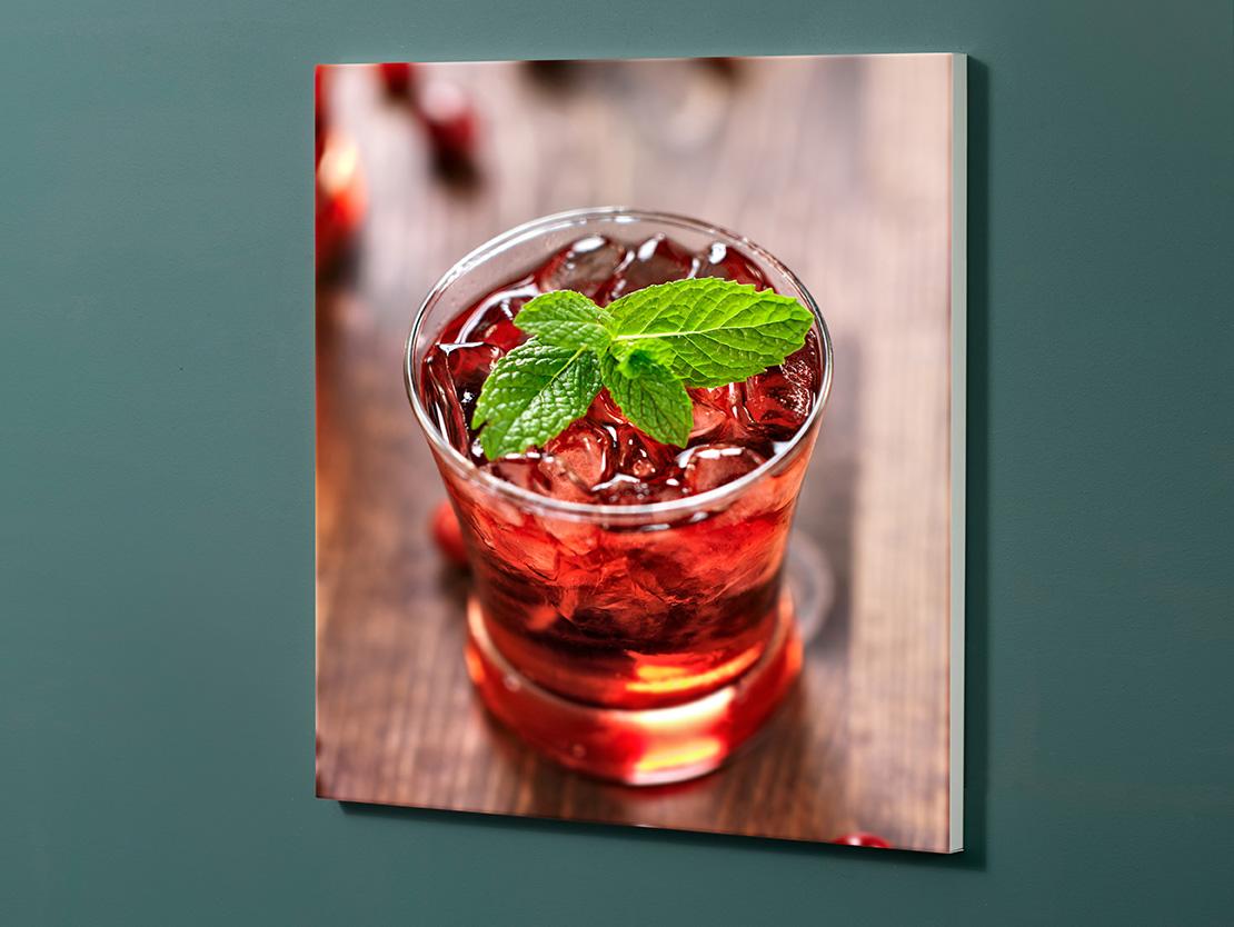 Magnettafel NOTIZ 60x60cm Motiv-Pinnwand M161 Cocktail