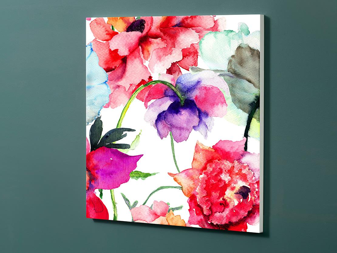 Magnettafel NOTIZ 60x60cm Motiv-Pinnwand M162 Blumen