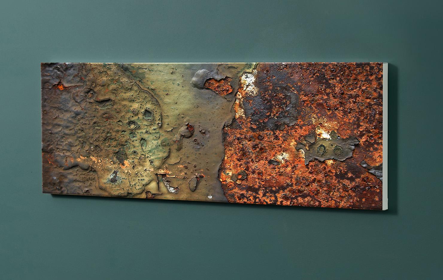 Magnettafel NOTIZ 90x30cm Motiv-Pinnwand M01 Rost