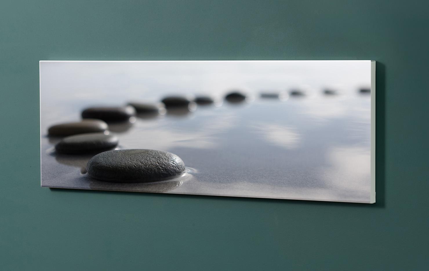 Magnettafel NOTIZ 90x30cm Motiv-Pinnwand M04 Steine