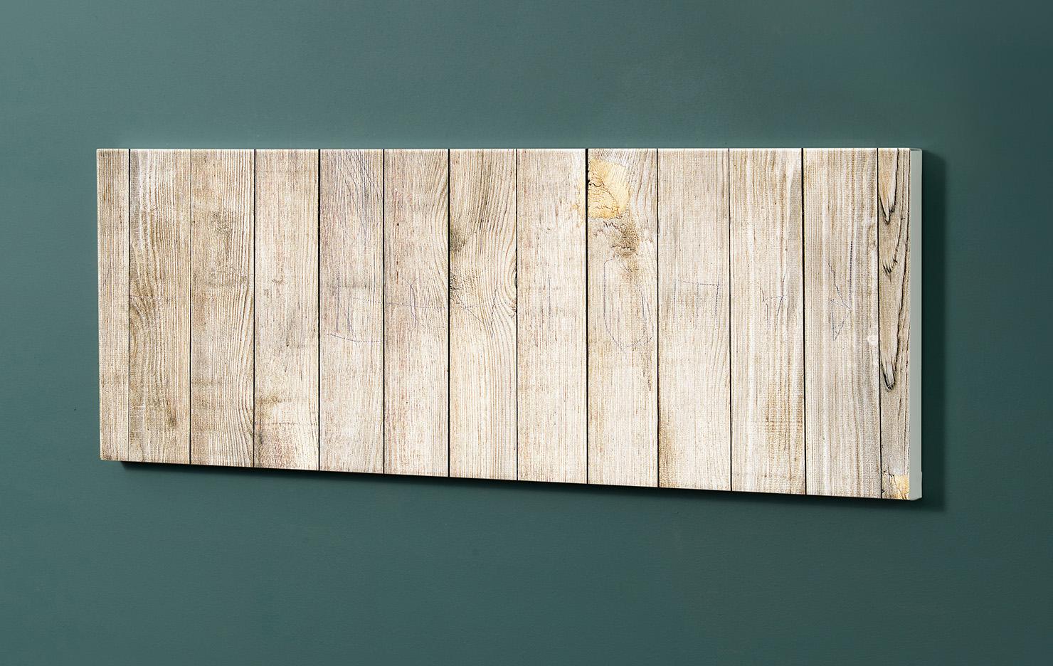 Magnettafel NOTIZ 90x30cm Motiv-Pinnwand M07 Holzbretter Vintage