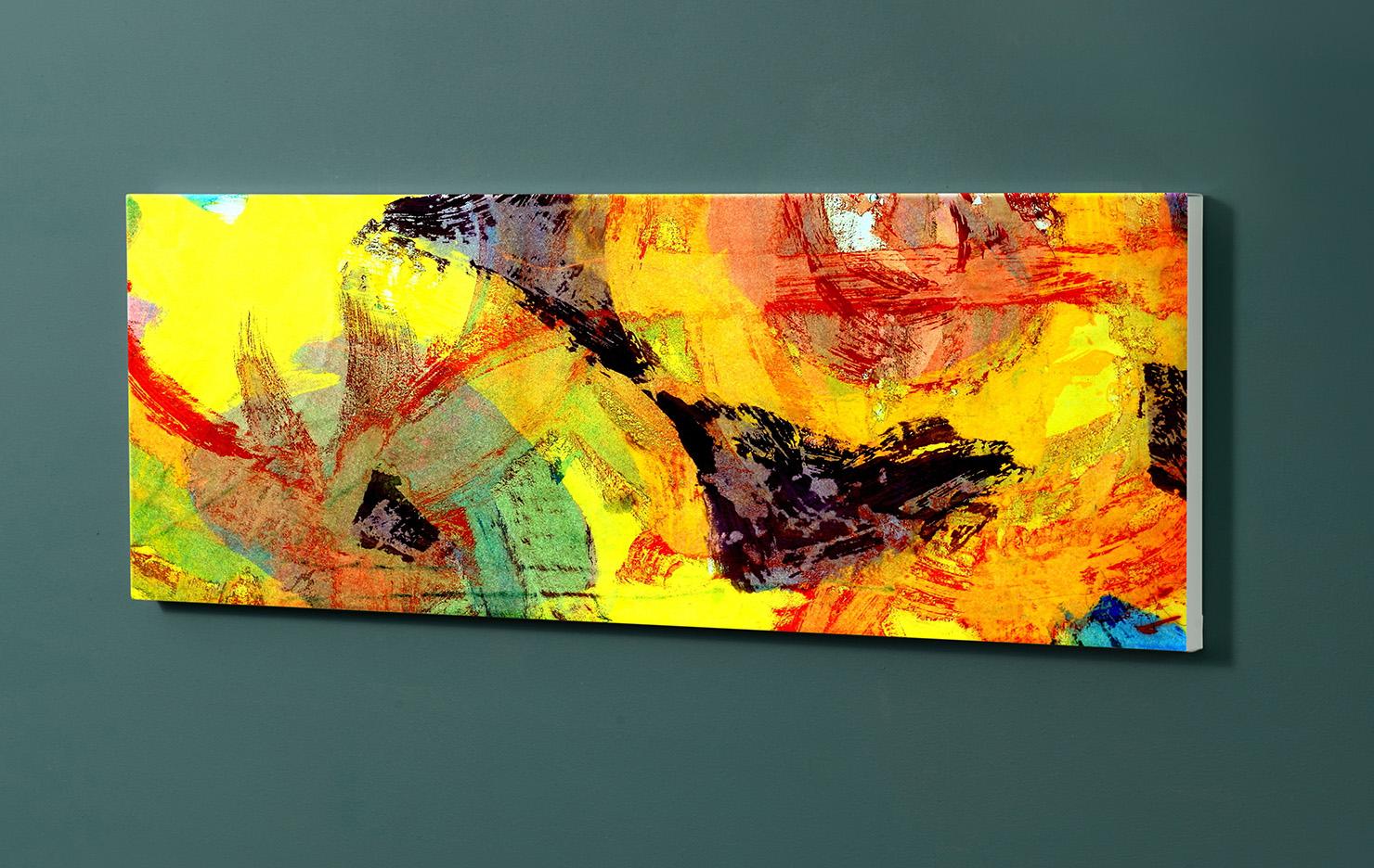 Magnettafel NOTIZ 90x30cm Motiv-Pinnwand M09 Abstrakt Kunst