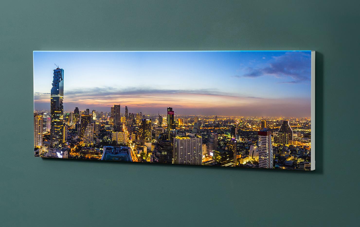 Magnettafel NOTIZ 90x30cm Motiv-Pinnwand M101 Bankok
