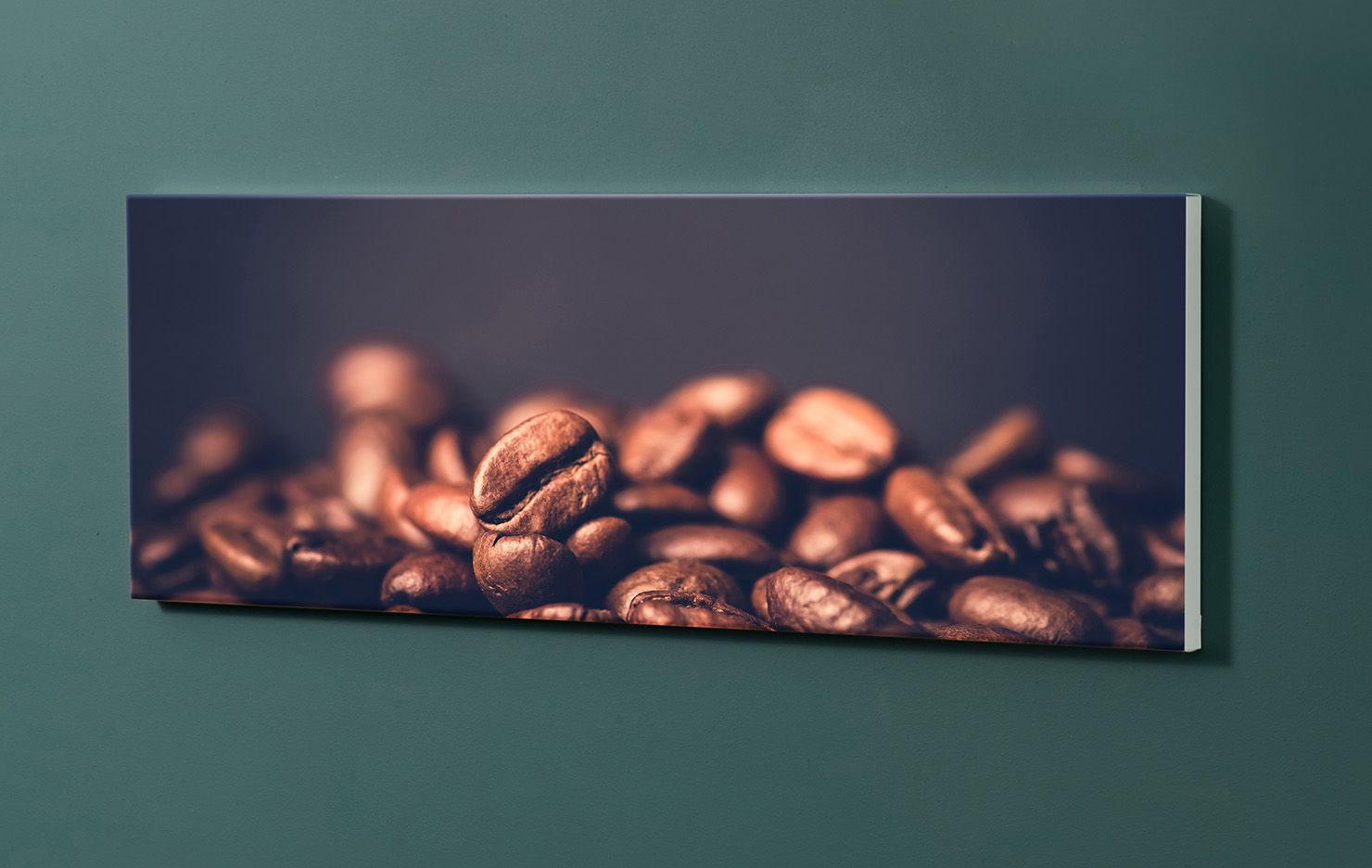 Magnettafel NOTIZ 90x30cm Motiv-Pinnwand M107 Kaffeebohnen