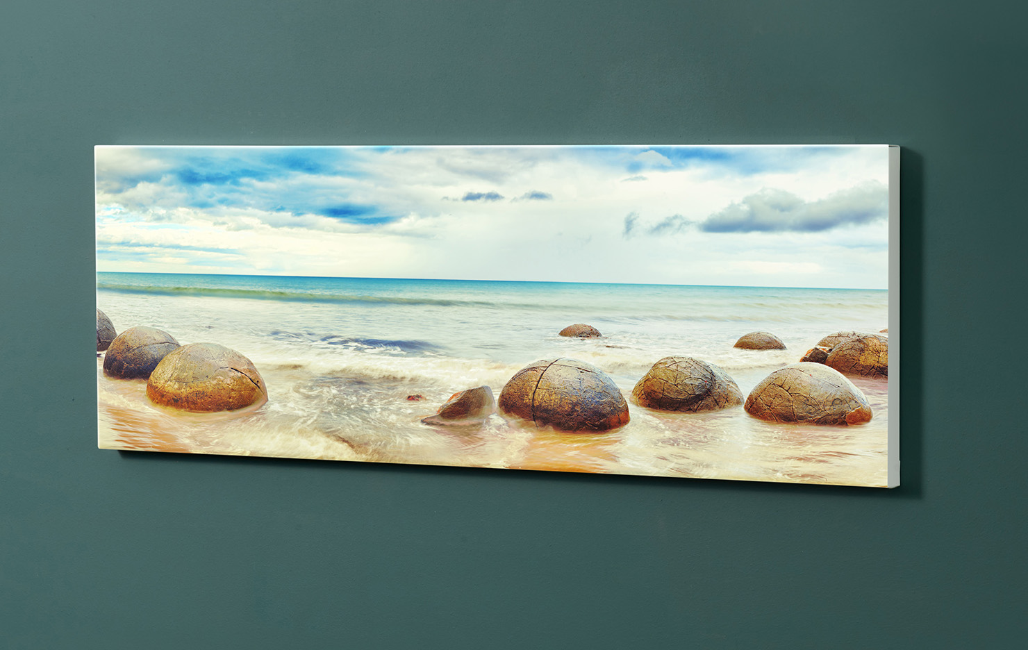 Magnettafel NOTIZ 90x30cm Motiv-Pinnwand M113 Strand Steine