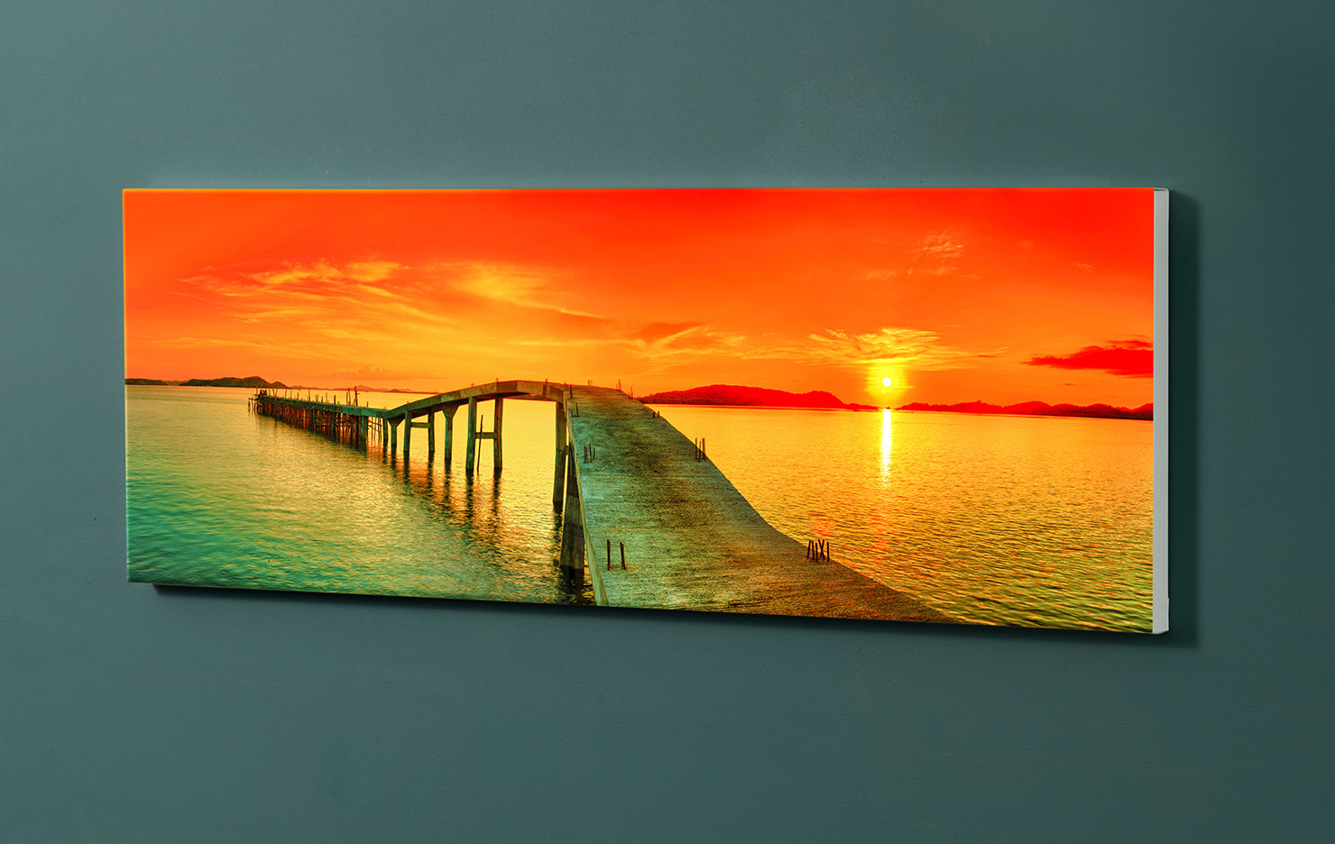 Magnettafel NOTIZ 90x30cm Motiv-Pinnwand M114 Sonnenuntergang