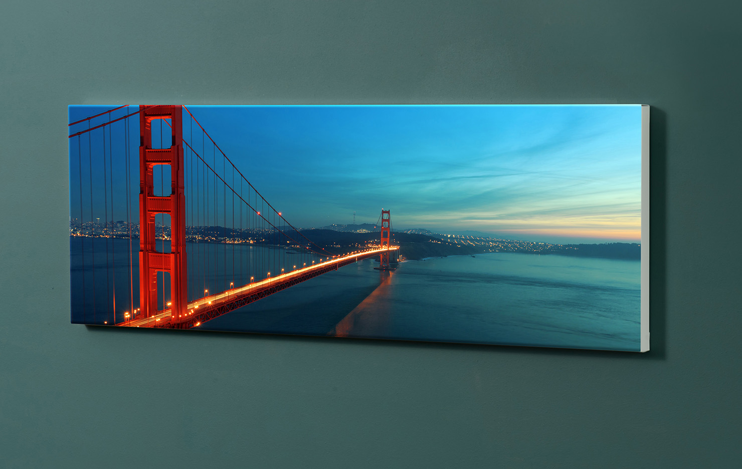 Magnettafel NOTIZ 90x30cm Motiv-Pinnwand M116 Golden Gate