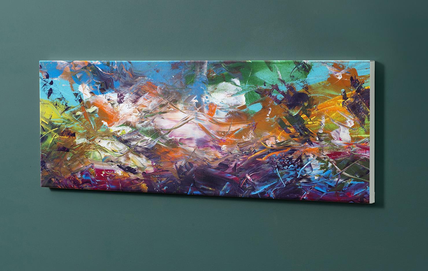 Magnettafel NOTIZ 90x30cm Motiv-Pinnwand M119 Abstrakt Kunst