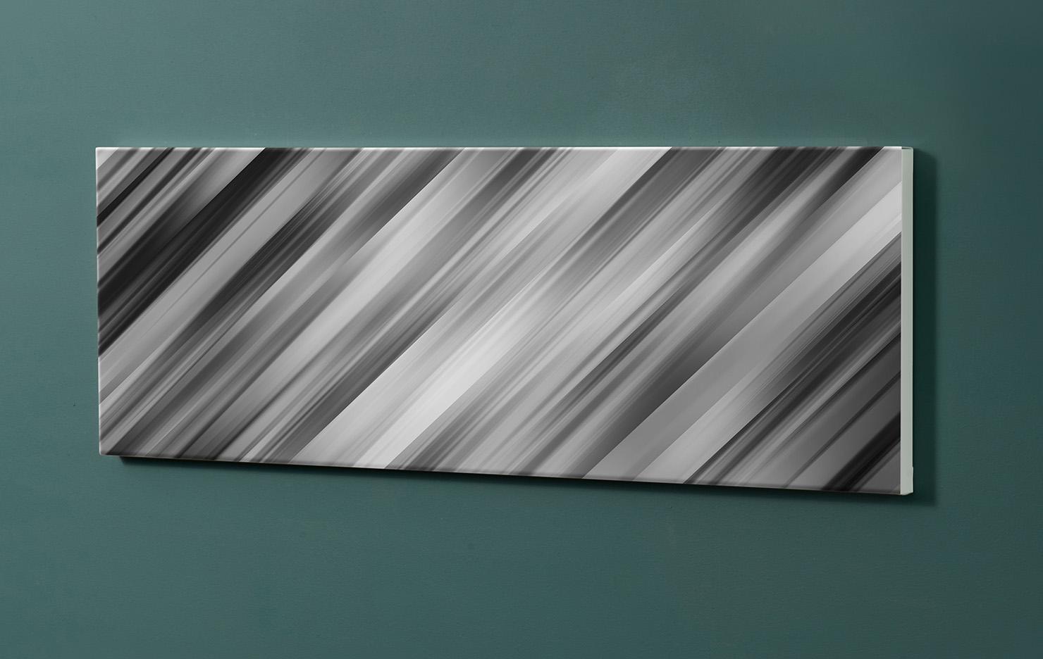 Magnettafel NOTIZ 90x30cm Motiv-Pinnwand M124 Schwarz Muster