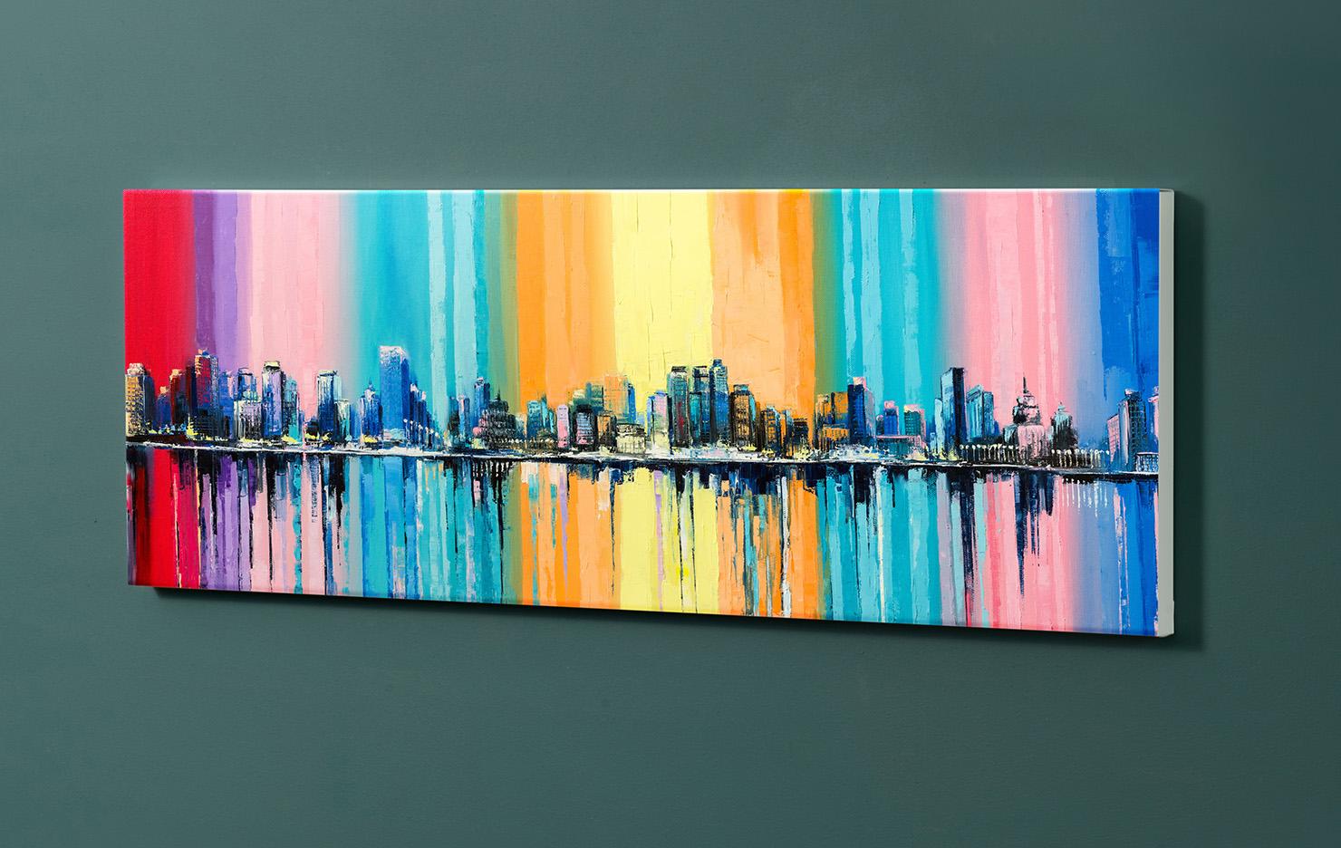 Magnettafel NOTIZ 90x30cm Motiv-Pinnwand M132 Kunst Gemälde
