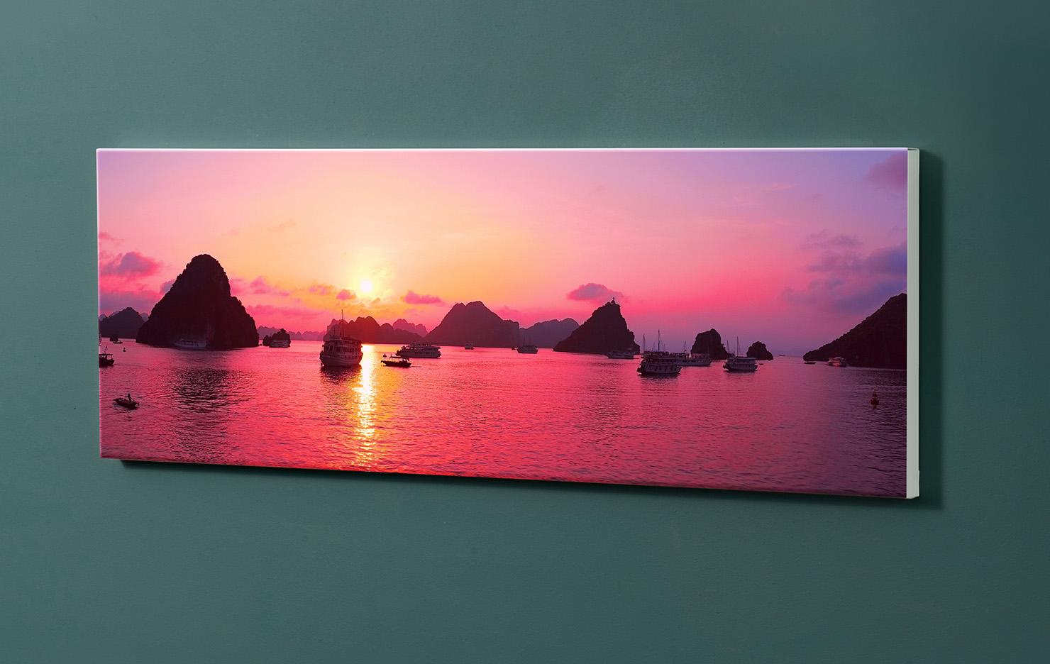 Magnettafel NOTIZ 90x30cm Motiv-Pinnwand M136 Sonnenuntergang