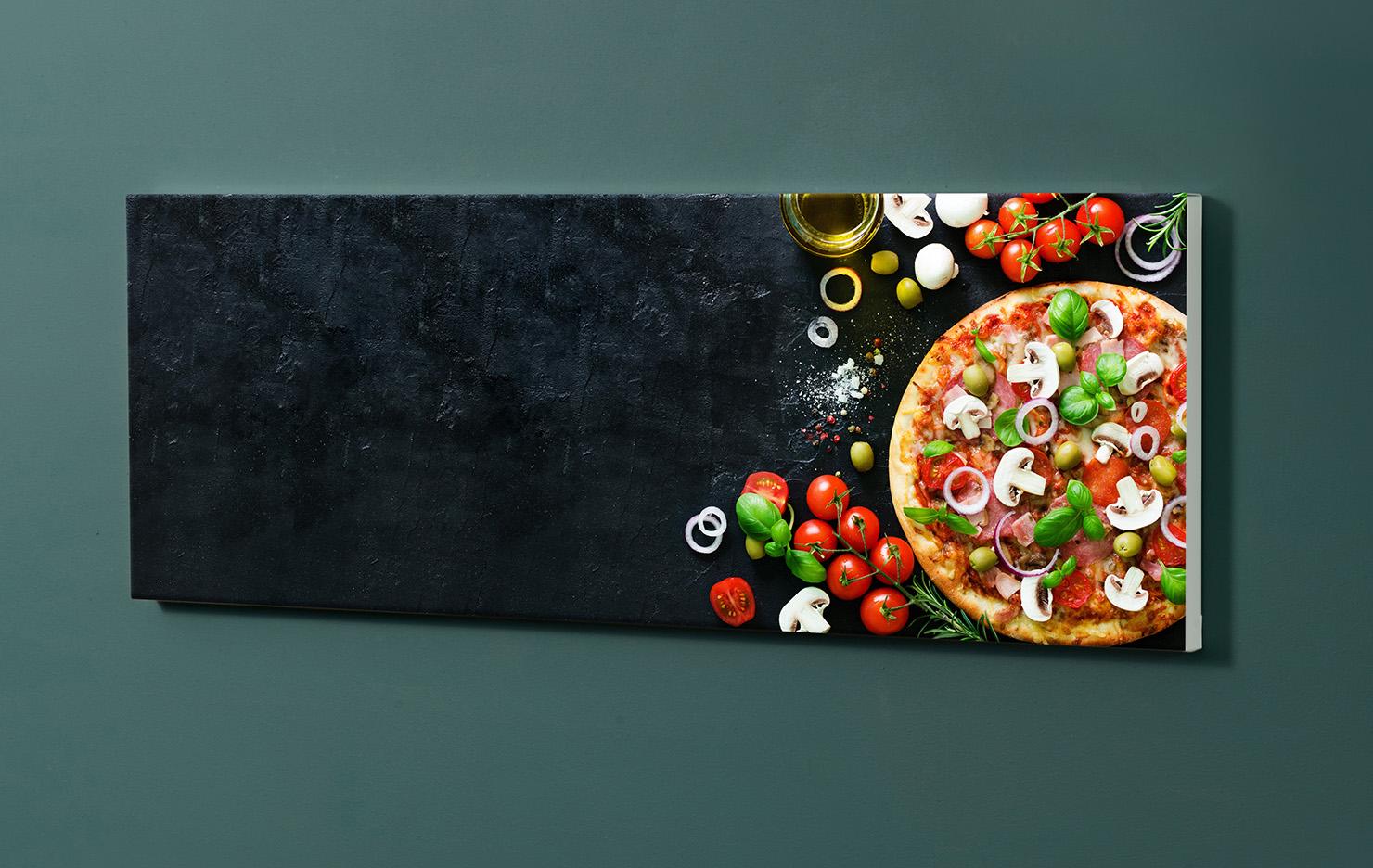 Magnettafel NOTIZ 90x30cm Motiv-Pinnwand M137 Pizza