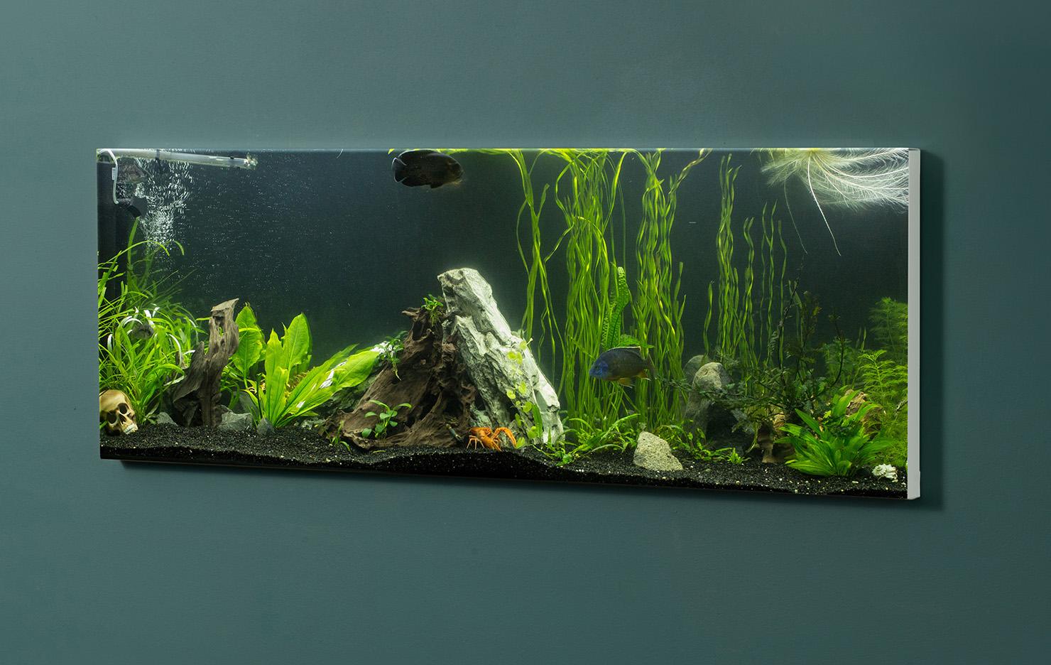Magnettafel NOTIZ 90x30cm Motiv-Pinnwand M140 Aquarium