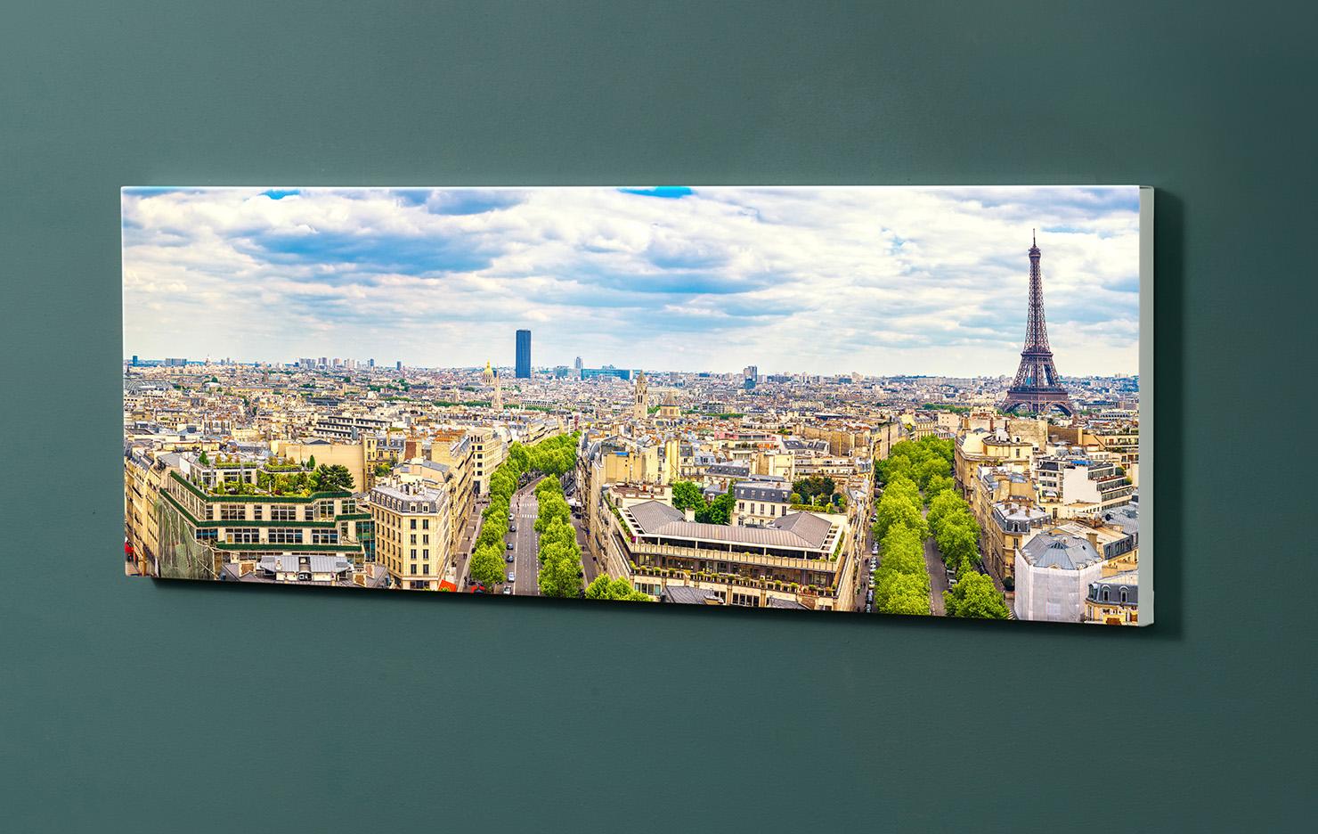 Magnettafel NOTIZ 90x30cm Motiv-Pinnwand M141 Paris Eifelturm