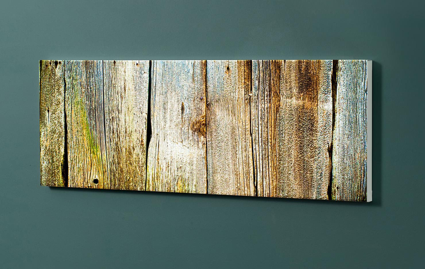 Magnettafel NOTIZ 90x30cm Motiv-Pinnwand M14 Holzbretter Vintage