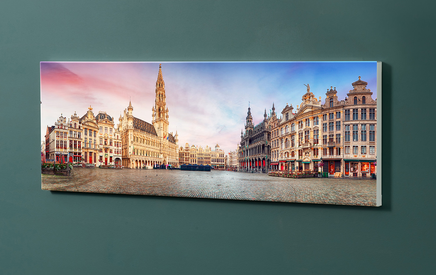 Magnettafel NOTIZ 90x30cm Motiv-Pinnwand M151 Brüssel