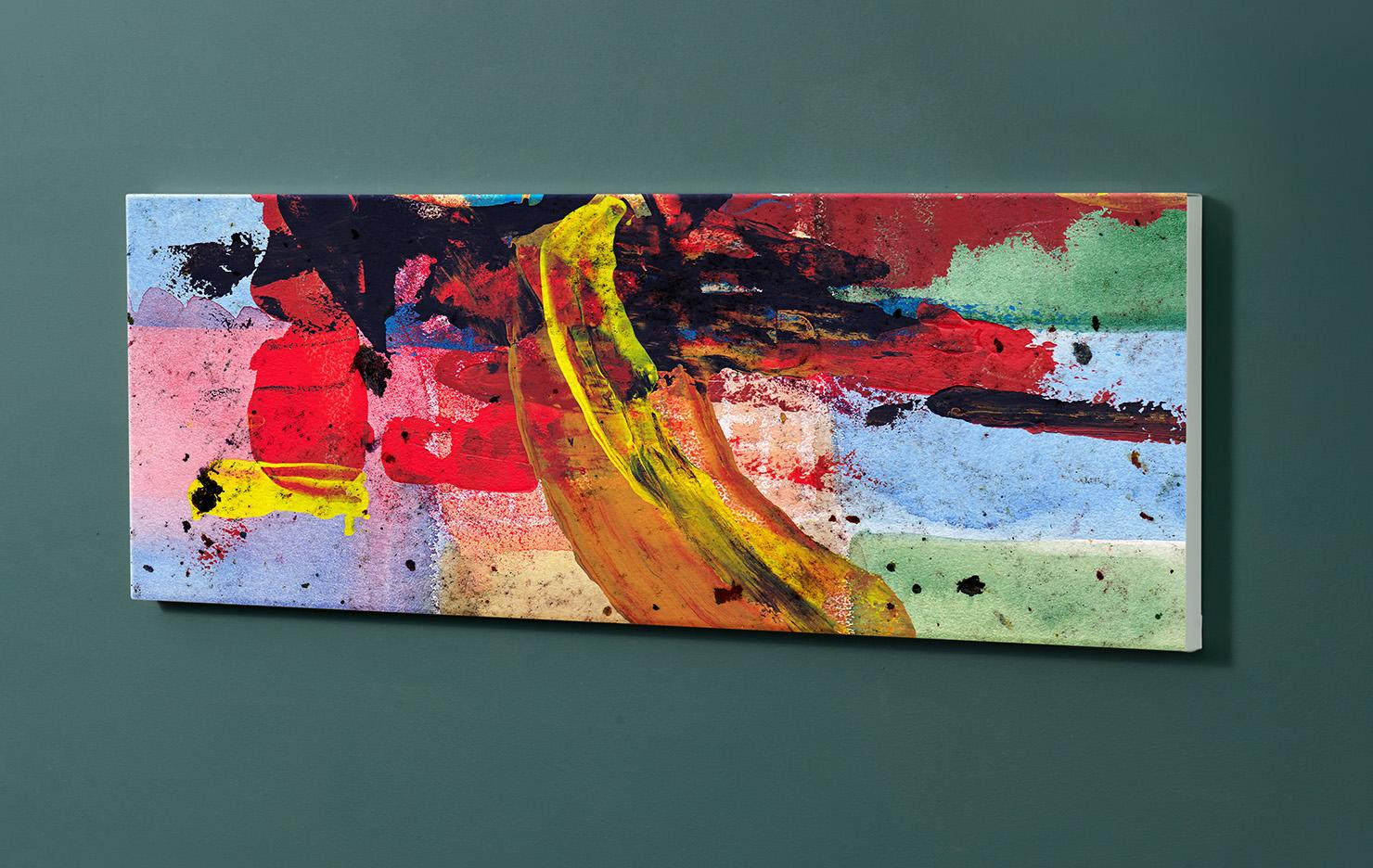Magnettafel NOTIZ 90x30cm Motiv-Pinnwand M162 Abstrakt Kunst