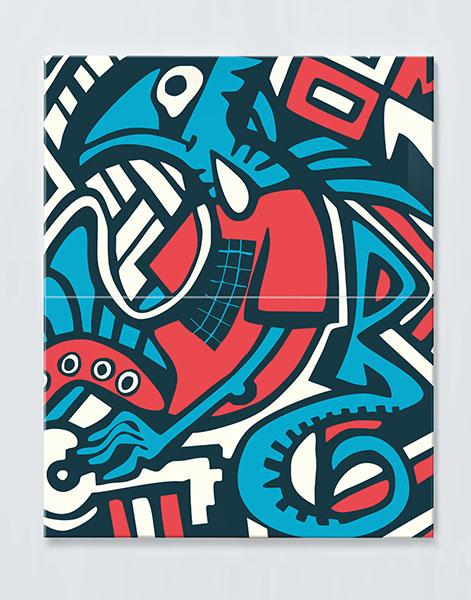 Magnettafel NOTIZ 60x80cm Motiv GRAFFITI MDH36 Motiv-Pinnwand