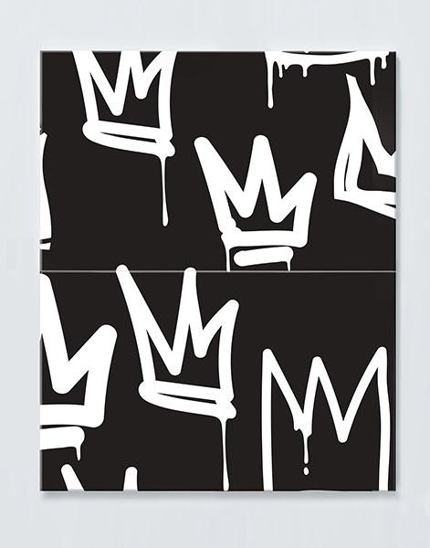 Magnettafel NOTIZ 60x80cm Motiv KRONEN MDH52 Motiv-Pinnwand
