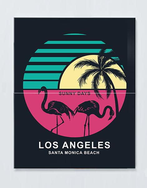 Magnettafel NOTIZ 60x80cm Motiv LOS ANGELES MDH63 Motiv-Pinnwand