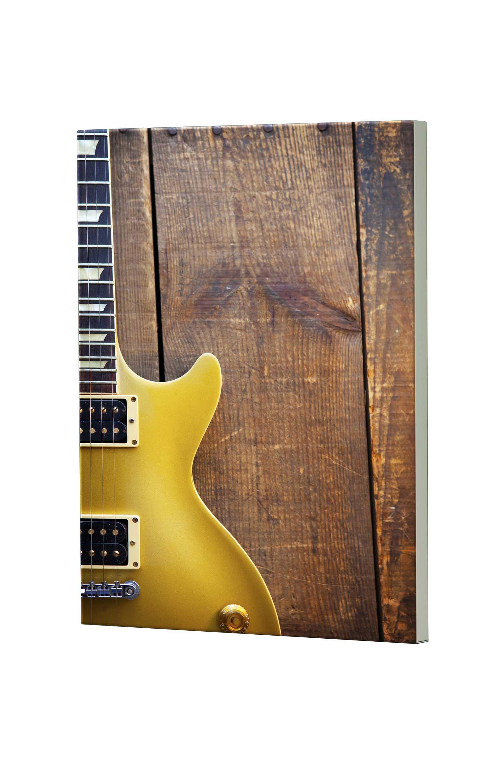Magnettafel NOTIZ 60x80cm Motiv Gitarre MDH143 Motiv-Pinnwand