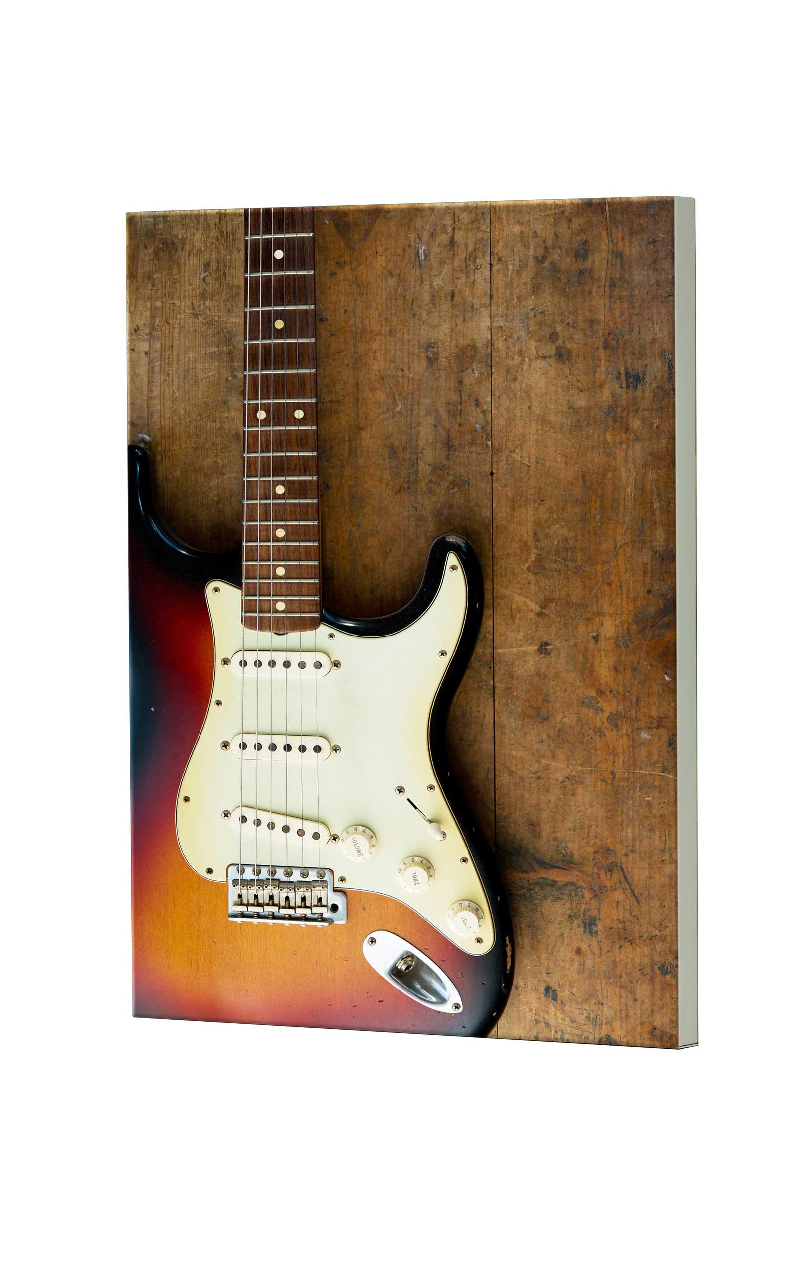 Magnettafel NOTIZ 60x80cm Motiv Gitarre MDH145 Motiv-Pinnwand