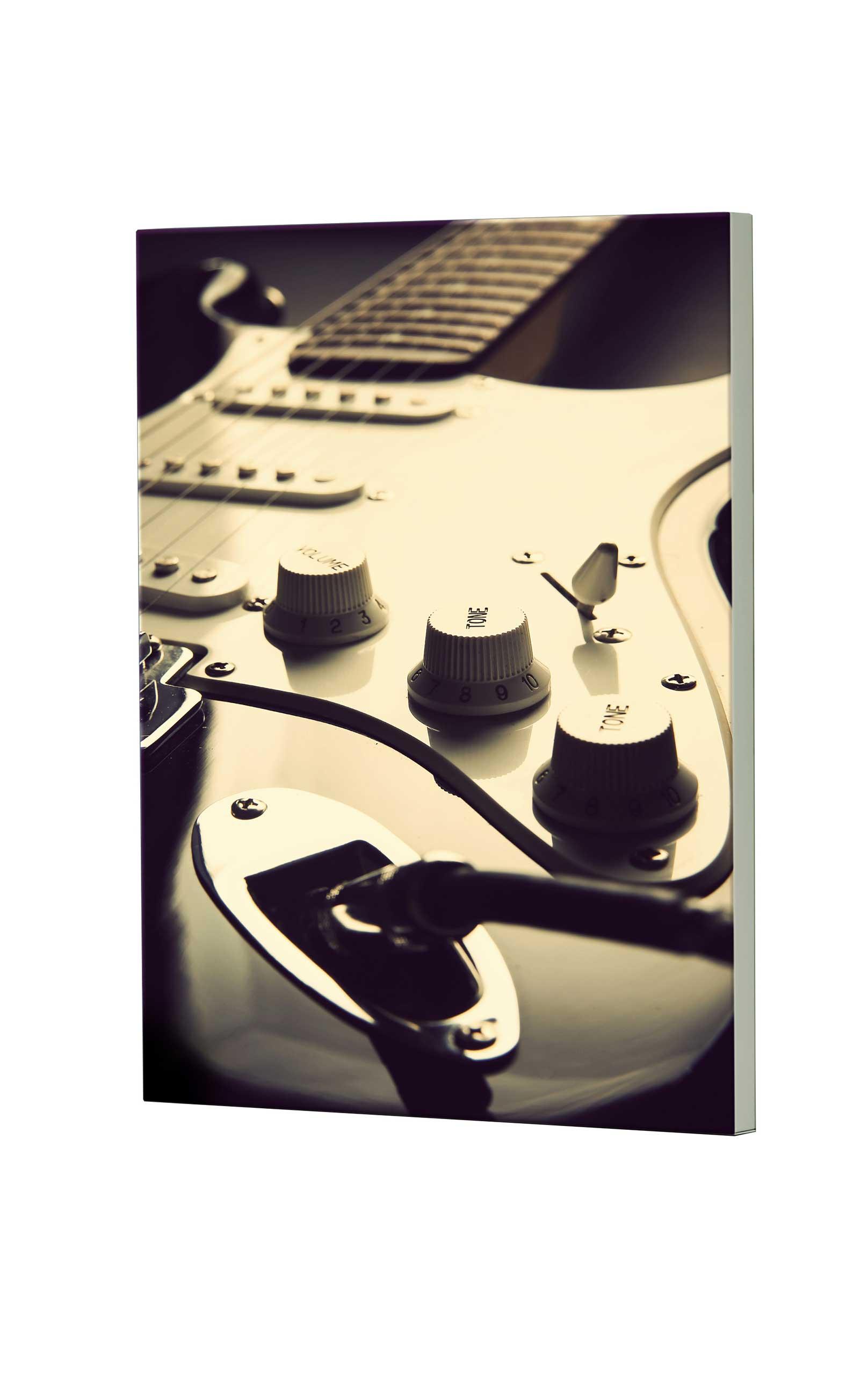 Magnettafel NOTIZ 60x80cm Motiv Gitarre MDH156 Motiv-Pinnwand