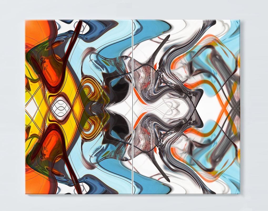 Magnettafel NOTIZ 80x60cm Motiv ABSTRAKT MDQ04 Motiv-Pinnwand