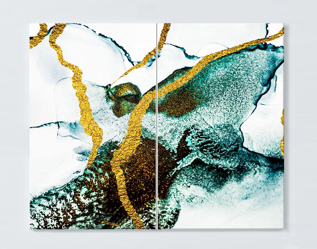 Magnettafel NOTIZ 80x60cm Motiv ABSTRAKT MDQ109 Motiv-Pinnwand