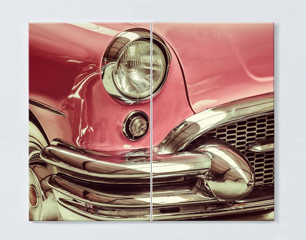 Magnettafel NOTIZ 80x60cm Motiv CLASSIC CAR MDQ10 Motiv-Pinnwand