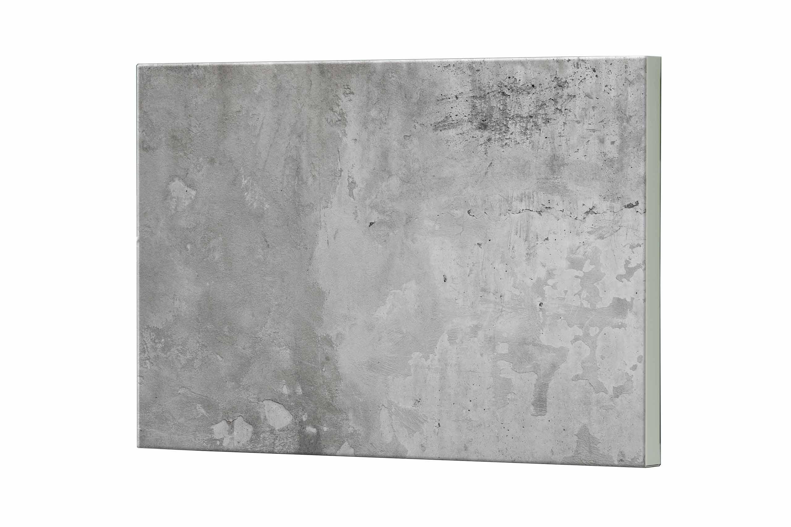 Magnettafel NOTIZ 80x60cm Motiv Beton MDQ124 Motiv-Pinnwand