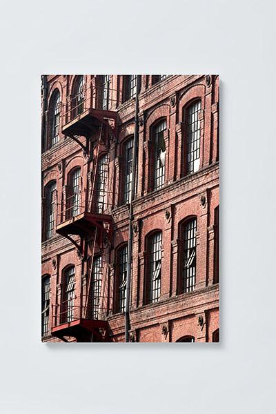 Magnettafel NOTIZ 40x60cm Motiv HÄUSERWAND MH01 Motiv-Pinnwand