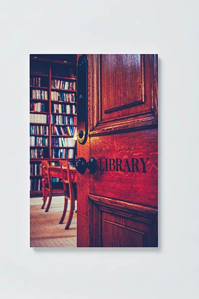 Magnettafel NOTIZ 40x60cm Motiv BIBLIOTHEK MH114 Motiv-Pinnwand