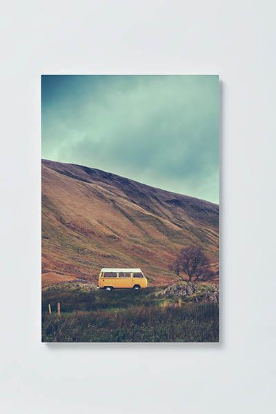 Magnettafel NOTIZ 40x60cm Motiv BULLI VW MH137 Motiv-Pinnwand