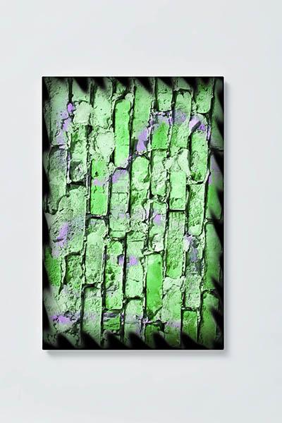 Magnettafel NOTIZ 40x60cm Motiv HÄUSERWAND MH178 Motiv-Pinnwand