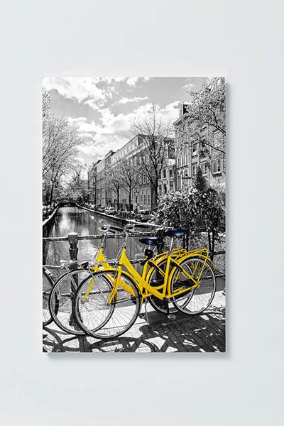 Magnettafel NOTIZ 40x60cm Motiv AMSTERDAM MH68 Motiv-Pinnwand